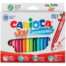 """Фломастеры carioca (италия) """"joy"""", 36 цветов, суперсмываемые, 40616"""