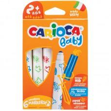 Фломастеры carioca baby 2+ 42813 круг. 6цв. (6шт.)