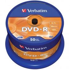 Диск dvd-r verbatim 4.7gb 16x cake box (50шт) (43548)