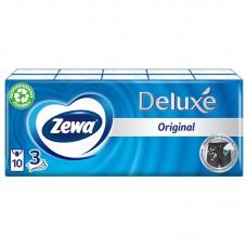 Платки носовые zewa deluxe 3-слойн. белый (упак.:10пач) (51174)