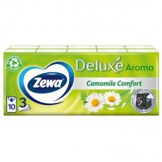 Платки носовые zewa deluxe 3-слойн. белый (упак.:10пач) (53107)