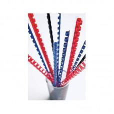Пружины для переплета пластиковые fellowes d=14мм 81-100лист a4 белый (100шт) crc-53466 (fs-53466)
