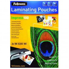 Пленка для ламинирования fellowes 100мкм a4 (100шт) глянцевая 216x303мм crc-53511 (fs-53511)