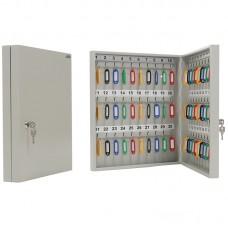Шкафчик для ключей aiko s183ch012000 key-60 на 60ключ. 400x355x59мм комппл.60 брелков серый металл