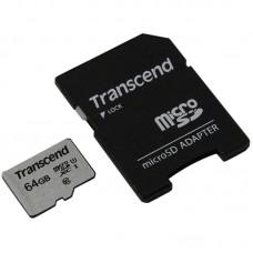 Micro securedigital 64gb transcend class 10 ts64gusd300s-a {microsdxc class 10 uhs-i, sd adapter}
