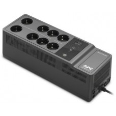 Apc back-ups es 650va/400w, 230v, avr, 8 rus outlets (2 surge & 6 batt.), usb, usb charge(type a), data/dsl protection, 2 year warranty