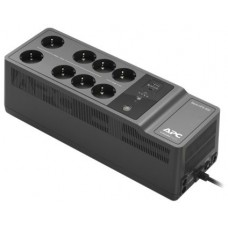 Apc back-ups es 850va/520w, 230v, avr, 8 rus outlets (2 surge & 6 batt.), usb, usb charge(type a, type c), data/dsl protection, 2 year warranty