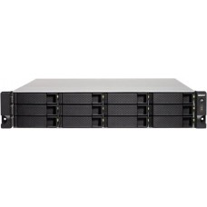 Smb qnap ts-1263xu-rp-4g nas, 12-tray w/o hdd. quad-core 64-bit amd 2.0ghz,  4gb ddr3l (1x4gb ) up to 16gb (2x8gb ),1x 10g lan rj45, 4x1gbe lan, 2u rackmount, 2x250w psu.. w/o rail kit rail-b02